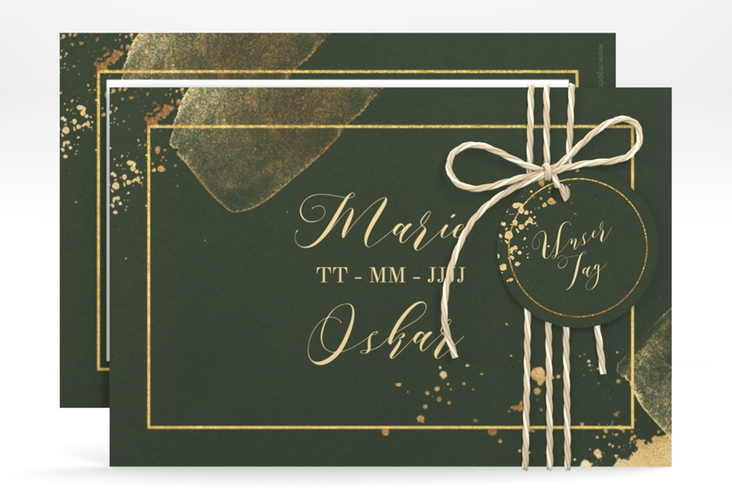 """Save the Date-Karte """"Emerald"""" A6 quer"""