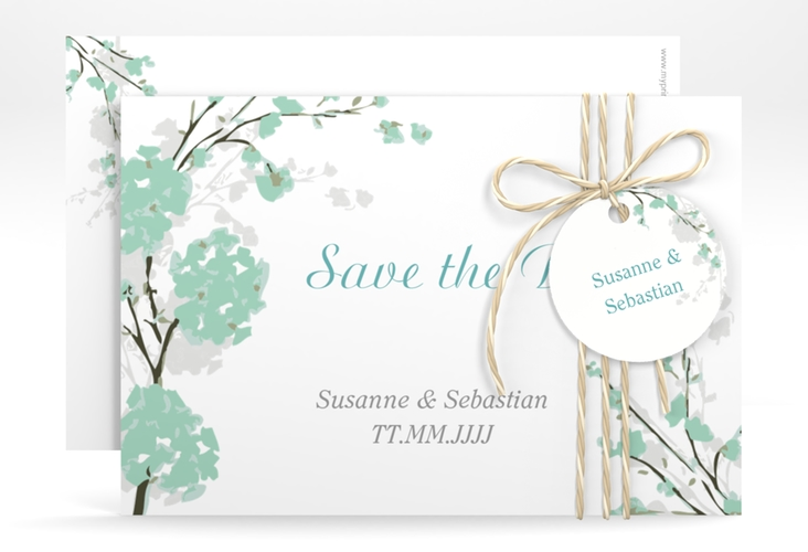 "Save the Date-Karte Hochzeit ""Salerno"" A6 quer"