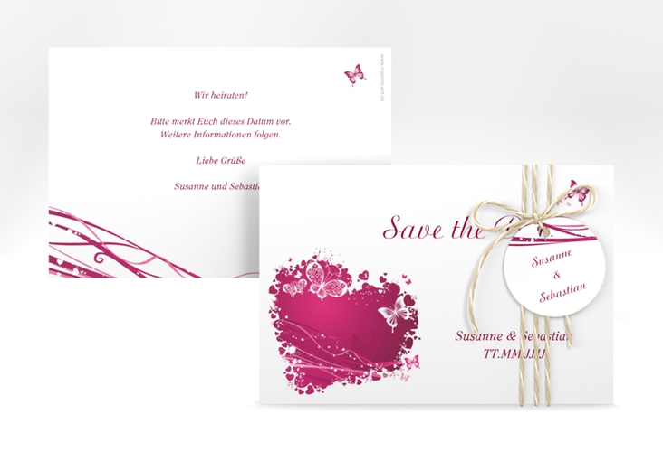 "Save the Date-Karte Hochzeit ""Mailand"" A6 quer"