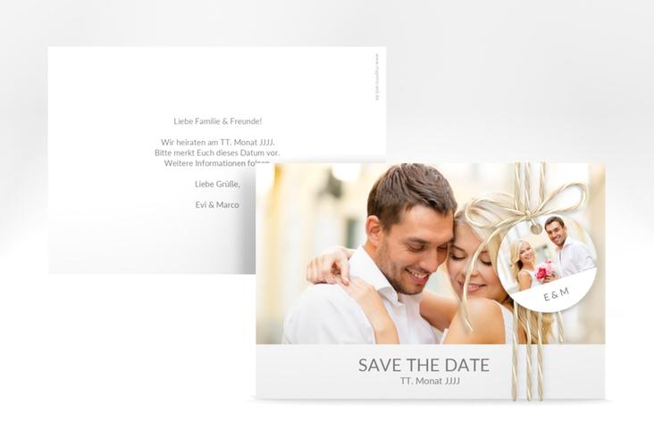 "Save the Date-Karte Hochzeit ""Vista"" A6 quer"