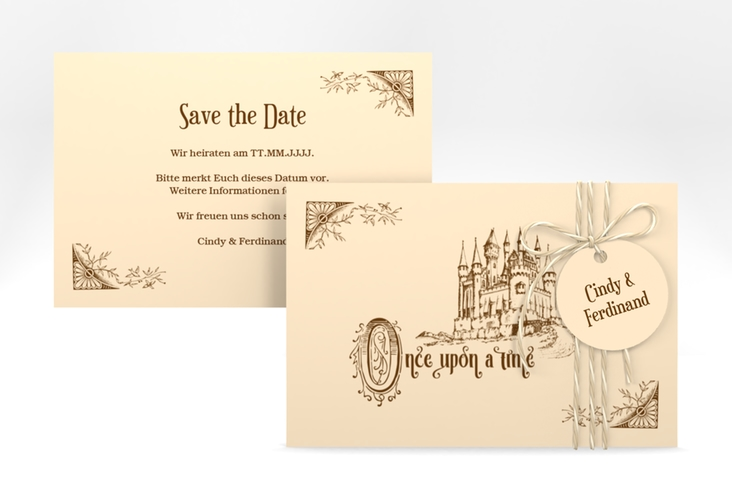 """Save the Date-Karte """"Storybook"""" A6 quer"""
