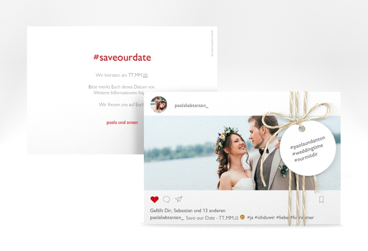 """Save the Date-Karte """"Posting"""" A6 quer"""