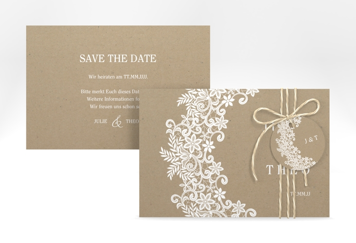 """Save the Date-Karte """"Mariage"""" A6 quer"""