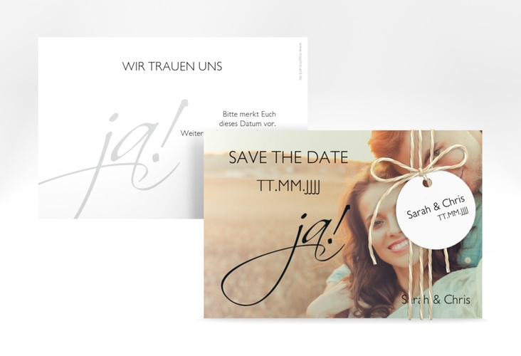 "Save the Date-Karte Hochzeit ""Clarity"" A6 quer"