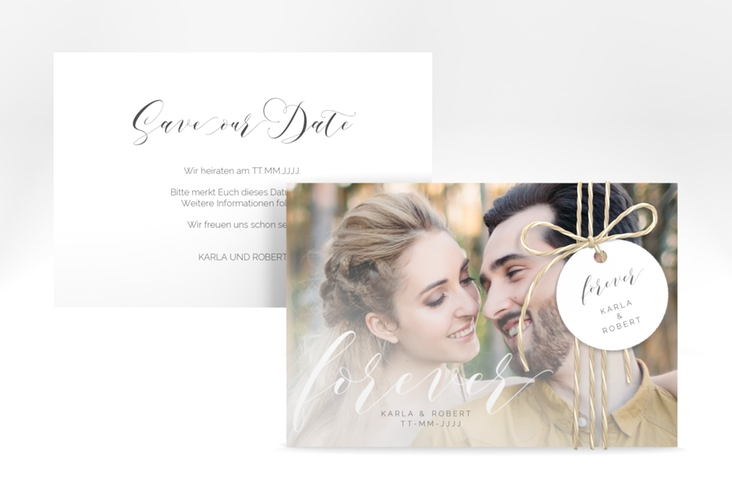 "Save the Date-Karte ""Promise"" A6 quer"
