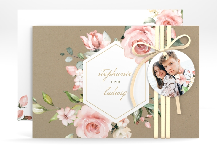 """Save the Date-Karte """"Graceful"""" A6 quer"""