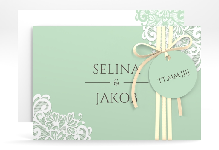 "Save the Date-Karte ""Vintage"" A6 quer mint"