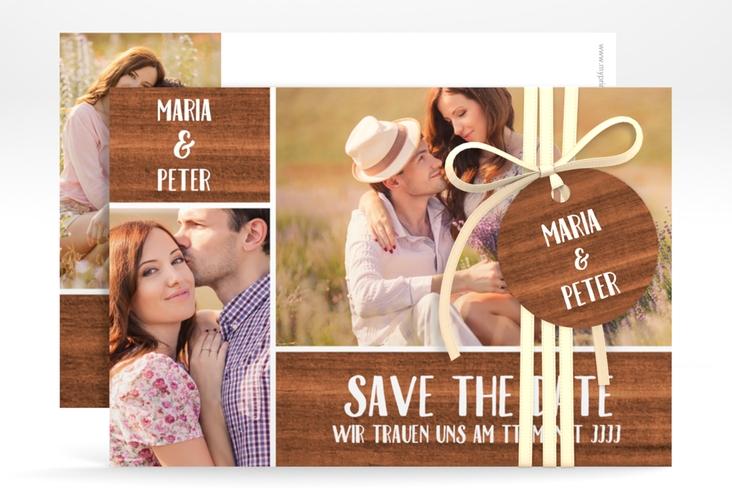 "Save the Date-Karte Hochzeit ""Landliebe"" A6 quer"