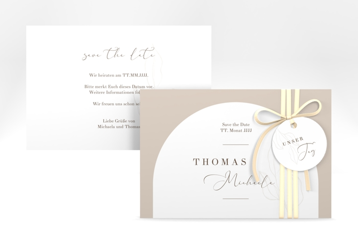 """Save the Date-Karte """"Arched"""" A6 quer"""