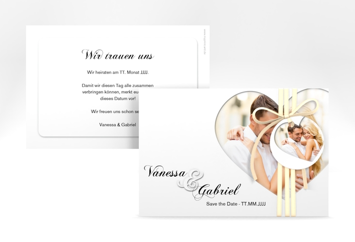 """Save the Date-Karte """"Sweetheart"""" A6 quer weiss"""
