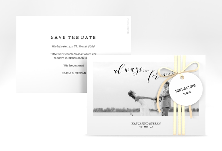 "Save the Date-Karte ""Photoframe"" A6 quer"