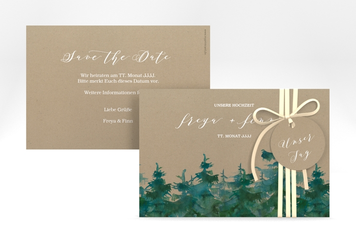 "Save the Date-Karte ""Evergreen"" A6 quer"