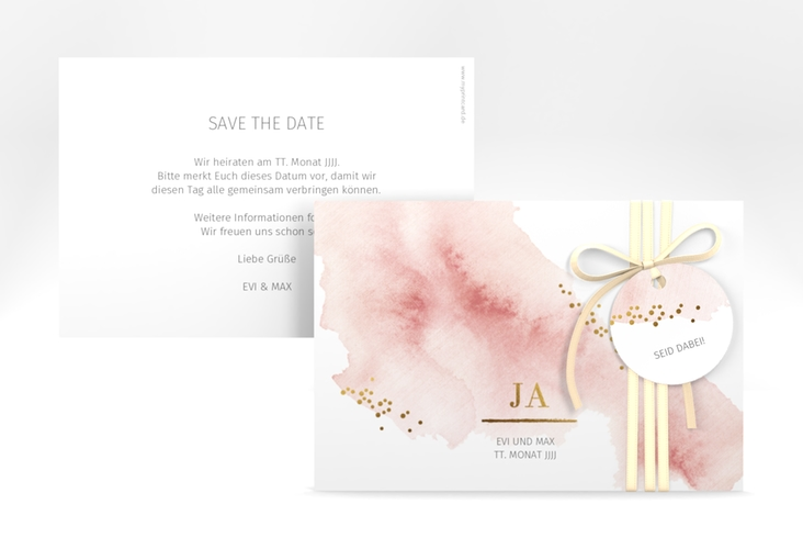 "Save the Date-Karte ""Pastell"" A6 quer"
