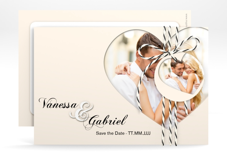 """Save the Date-Karte """"Sweetheart"""" A6 quer"""