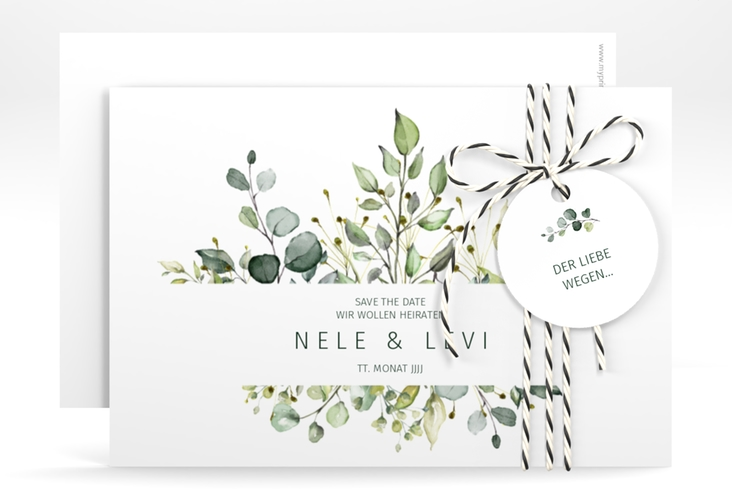 """Save the Date-Karte """"Enchanting"""" A6 quer"""