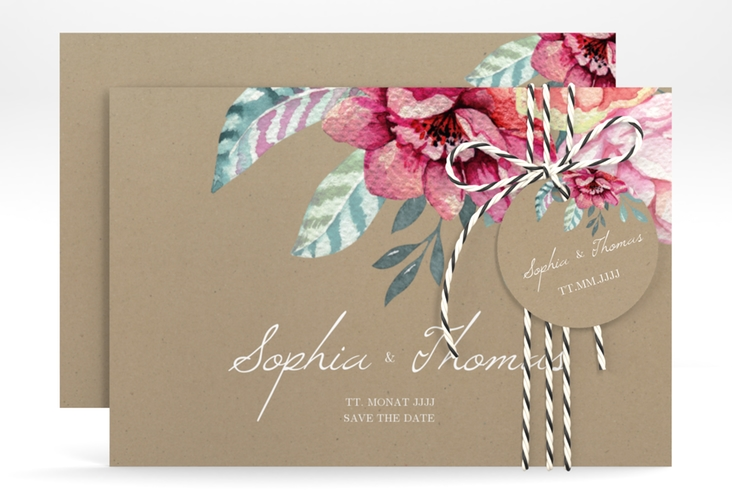 """Save the Date-Karte """"Blooming"""" A6 quer"""