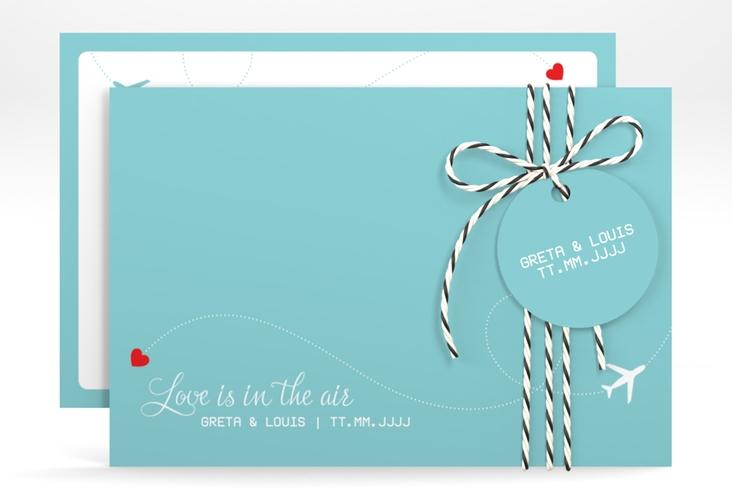 """Save the Date-Karte """"Weddingpass"""" A6 quer"""