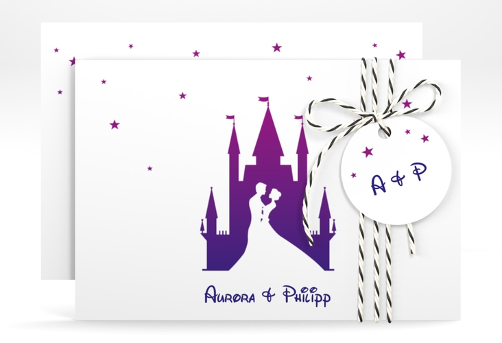 "Save the Date-Karte ""Castle"" A6 quer"