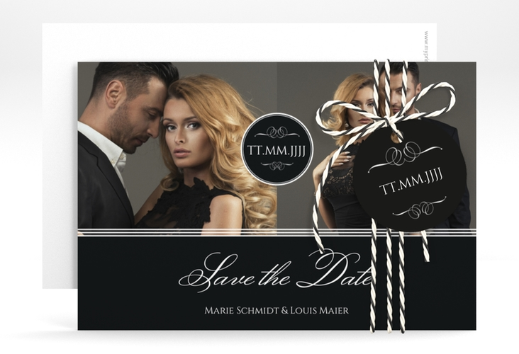 """Save the Date-Karte """"Elegancy"""" A6 quer"""