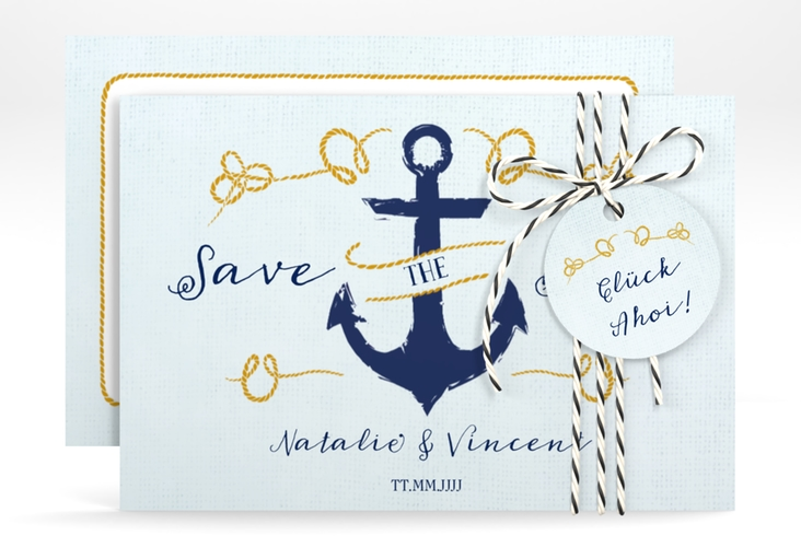 """Save the Date-Karte """"Anker"""" A6 quer"""