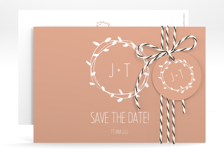 "Save the Date-Karte ""Laurel"" A6 quer"