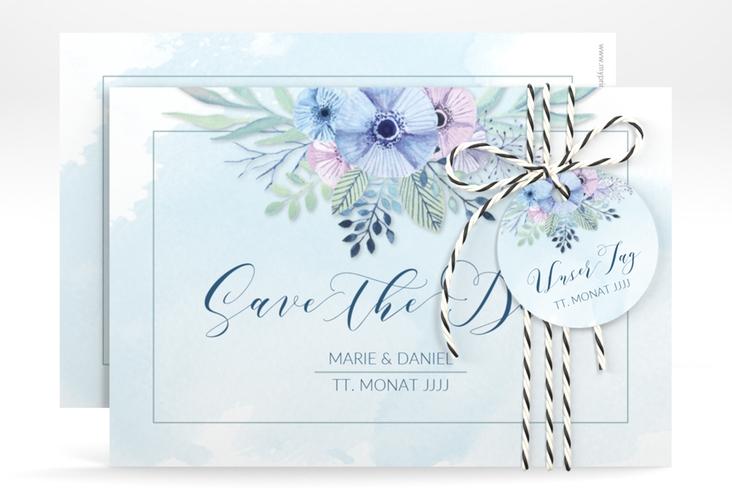 """Save the Date-Karte Hochzeit """"Surfinia"""" A6 quer"""