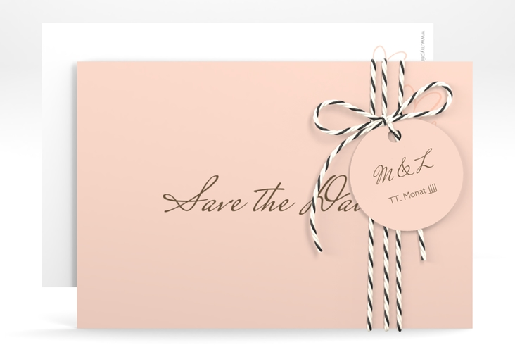 """Save the Date-Karte """"Purity"""" A6 quer"""