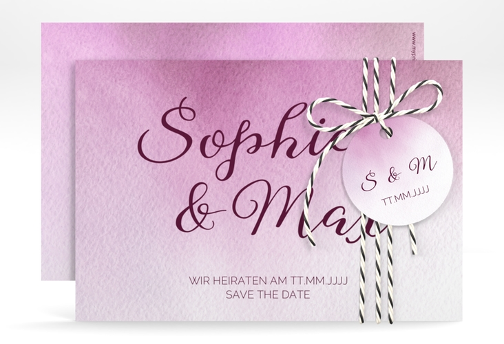 """Save the Date-Karte """"Ombre"""" A6 quer"""