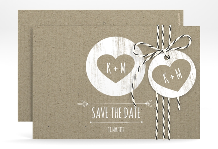 """Save the Date-Karte """"Shabby"""" A6 quer"""