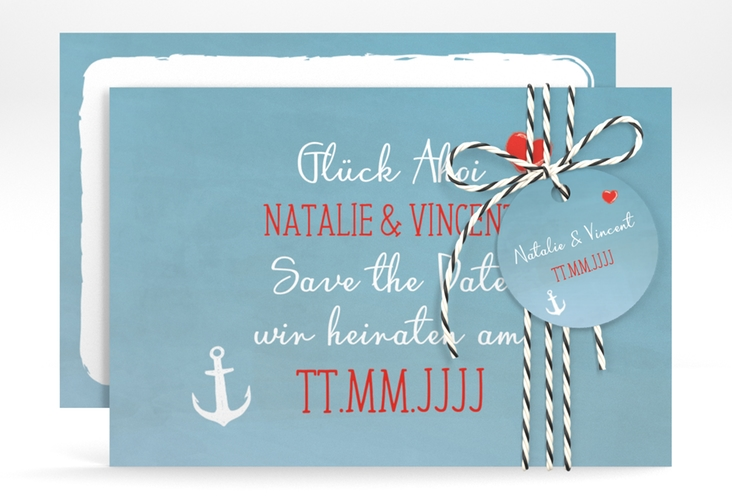 """Save the Date-Karte """"Ehehafen"""" A6 quer"""