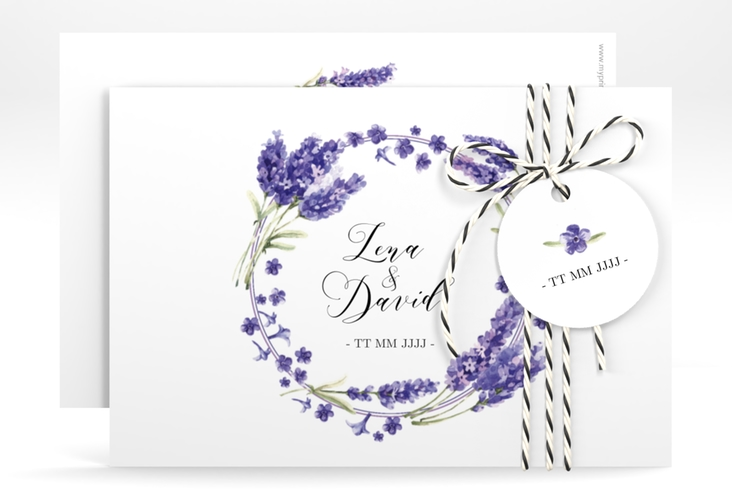"Save the Date-Karte ""Lavendel"" A6 quer"