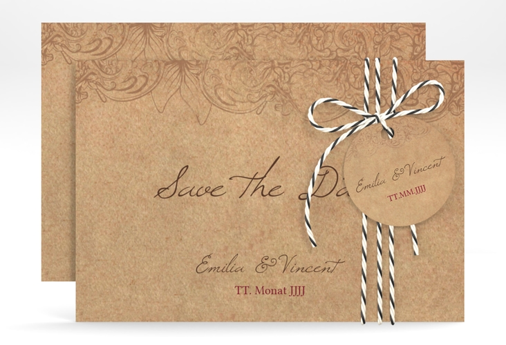 """Save the Date-Karte """"Fairytale"""" A6 quer"""