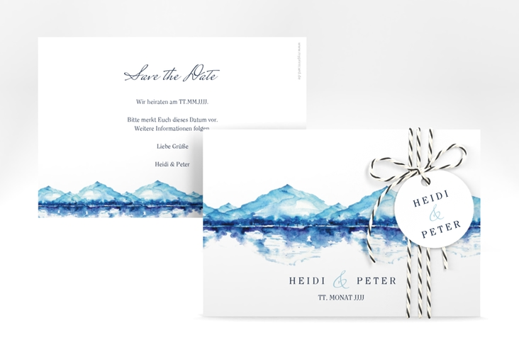 """Save the Date-Karte """"Bergliebe"""" A6 quer"""