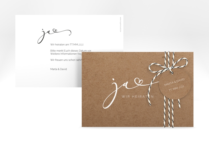 "Save the Date-Karte ""Jawort"" A6 quer"