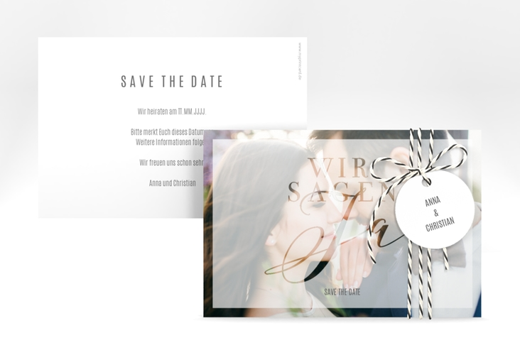 """Save the Date-Karte """"Amazing"""" A6 quer"""