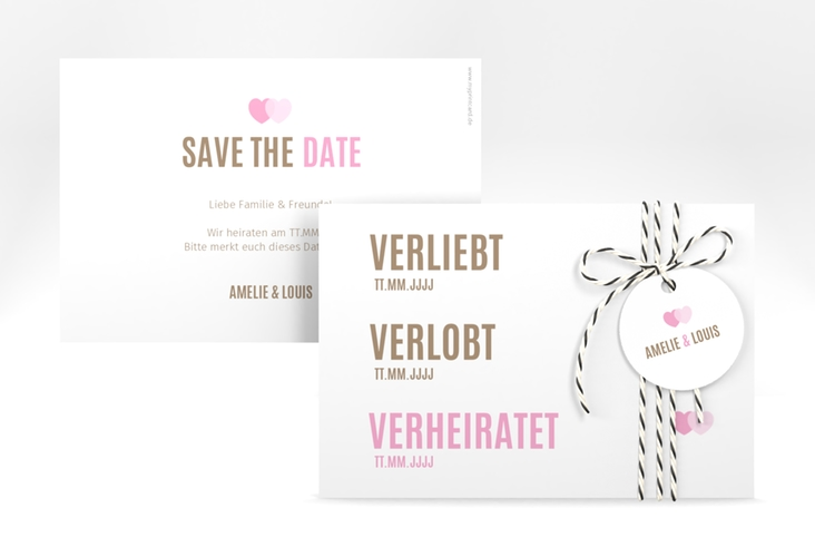 """Save the Date-Karte """"Couple"""" A6 quer"""