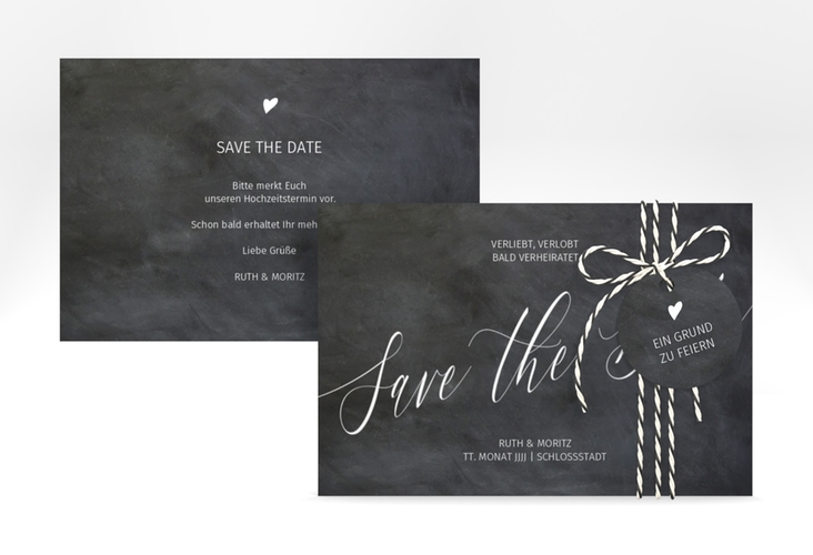 "Save the Date-Karte ""Chalkboard"" A6 quer"