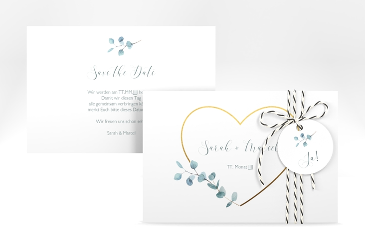 """Save the Date-Karte """"Greenheart"""" A6 quer"""