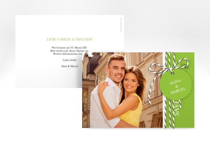 """Save the Date-Karte """"Classic"""" A6 quer"""