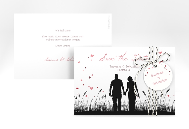 "Save the Date-Karte Hochzeit ""Rouen"" A6 quer"