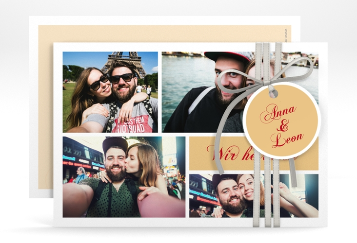 """Save the Date-Karte """"Collage"""" A6 quer"""