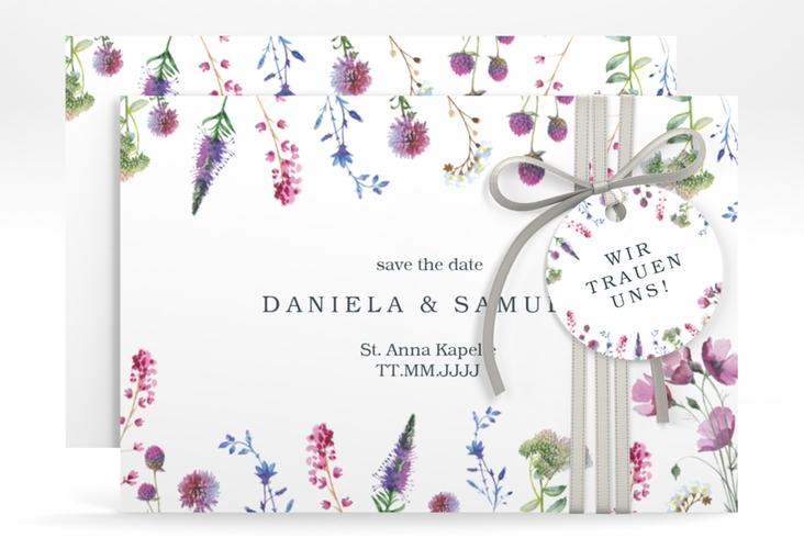 "Save the Date-Karte ""Wildblumen"" A6 quer"
