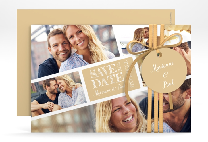 "Save the Date-Karte ""Rise"" A6 quer beige"