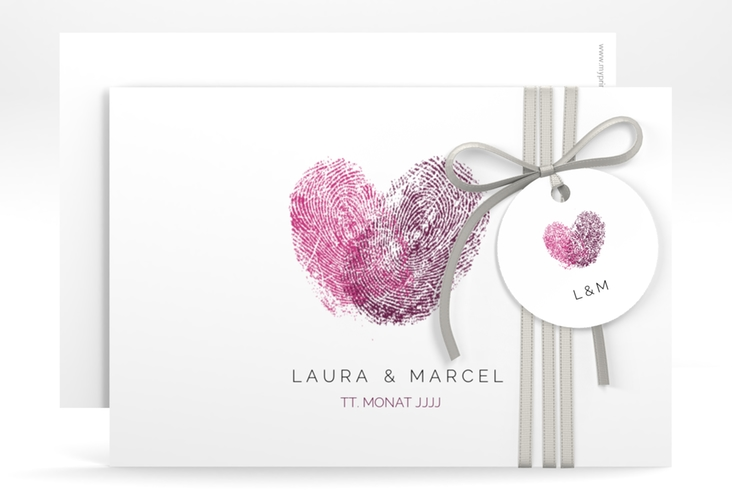"Save the Date-Karte ""Fingerprint"" A6 quer"
