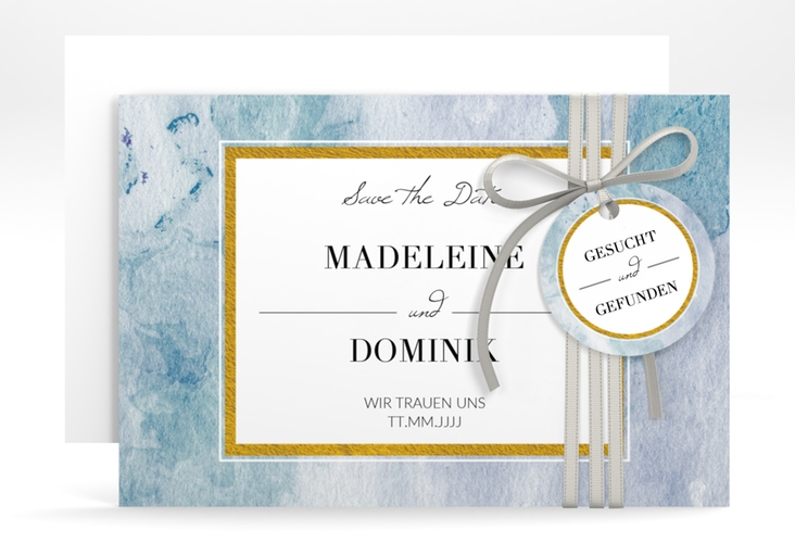 "Save the Date-Karte ""Marble"" A6 quer"