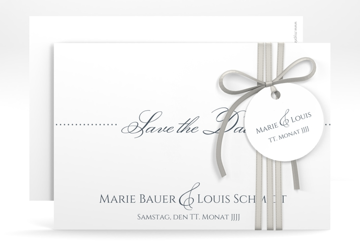 "Save the Date-Karte Hochzeit ""Pure"" A6 quer"