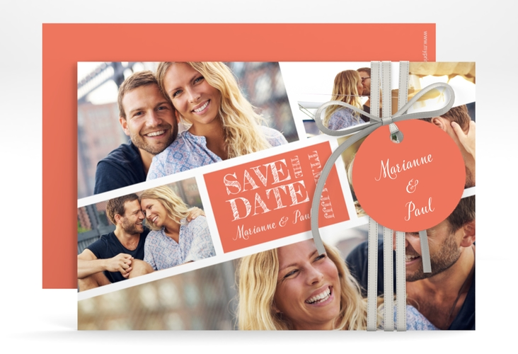 """Save the Date-Karte """"Rise"""" A6 quer rot"""