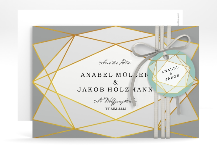 "Save the Date-Karte ""Geometric"" A6 quer"