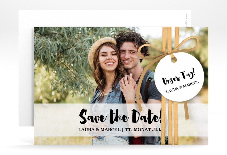 """Save the Date-Karte """"Mirage"""" A6 quer weiss"""