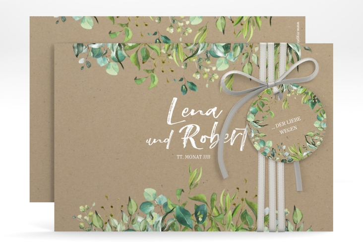 """Save the Date-Karte """"Natural"""" A6 quer beige"""